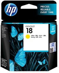 HP 18 Ink Cartridge C4939A (Yellow) image