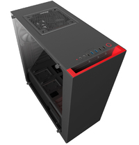 NZXT S340 Elite Mid Tower - Black/Red