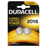 Duracell Button Cell 2016 2pk