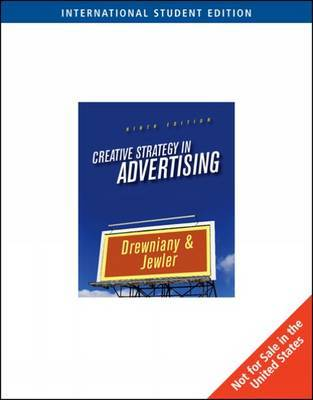 Creative Strategy in Advertising by Bonnie Drewniany