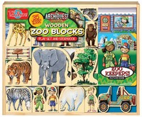ArchiQuest - Zoo Wooden Blocks & Storybook Playset