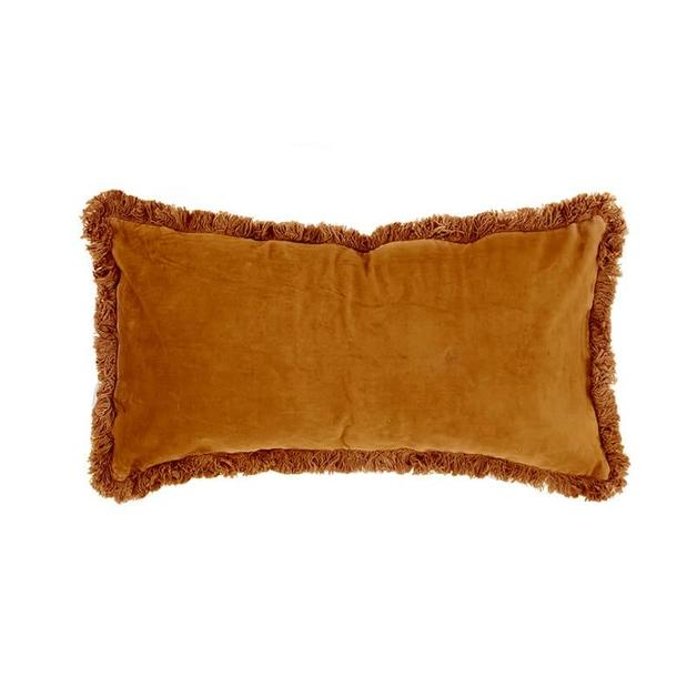 Velvet Feather Filled Cushion - Sienna