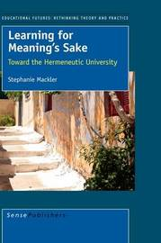 Learning for Meaning's Sake by Stephanie Mackler image