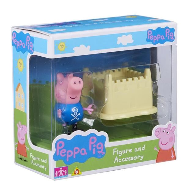 Peppa Pig: Figure and Accessory Pack - George & Sandcastle