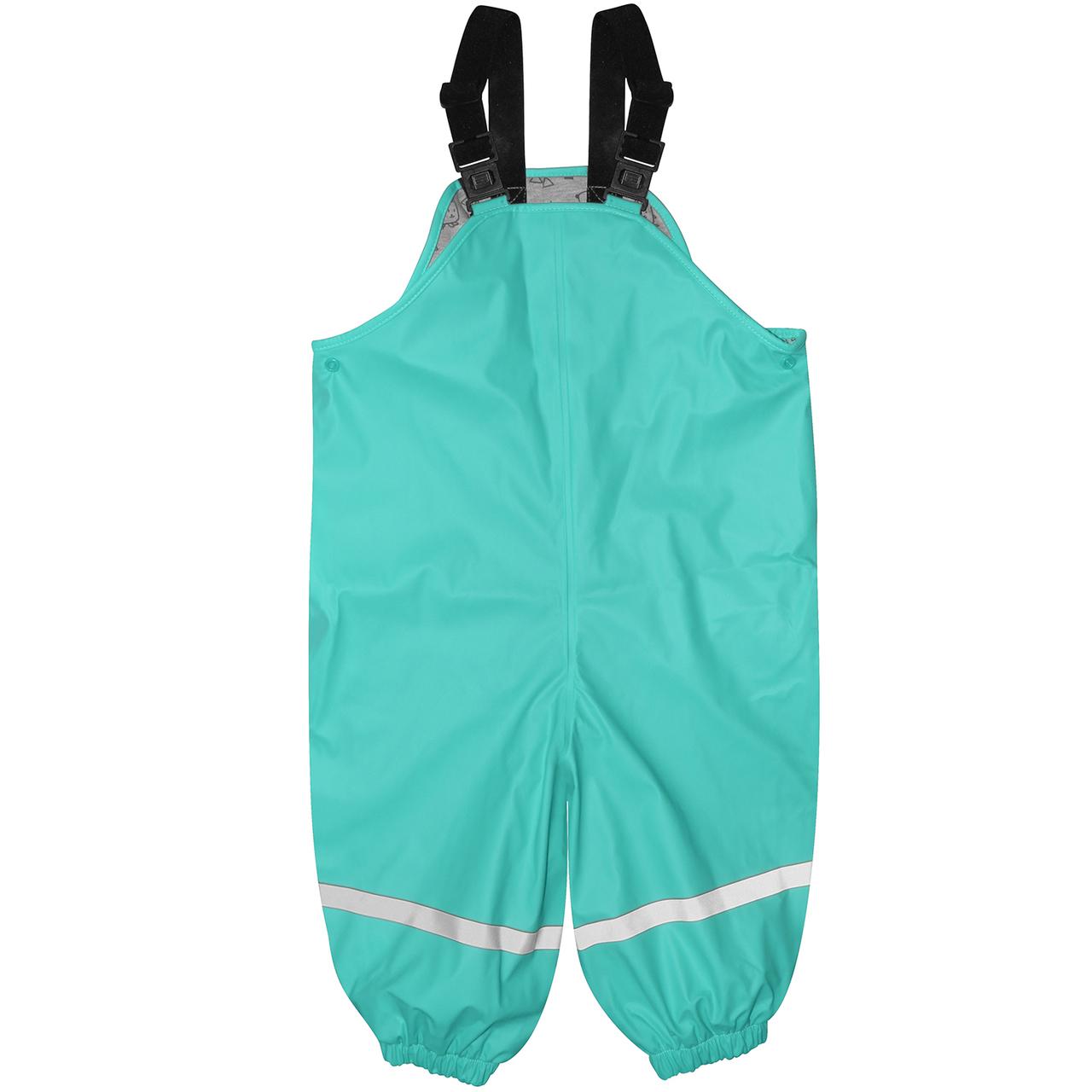 Silly Billyz Waterproof Overalls - Aqua (2-3 Yrs) image