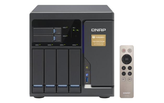 QNAP TVS-682T-I3-8G NAS,4+2+2XM.2 SLOT(DISKLESS),8GB,I3-6100,T-BOLT,GbE(4),10G-T,TWR,2YR