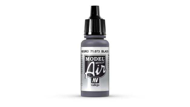Vallejo Model Air Metallic Black Acrylic Paint 17ml