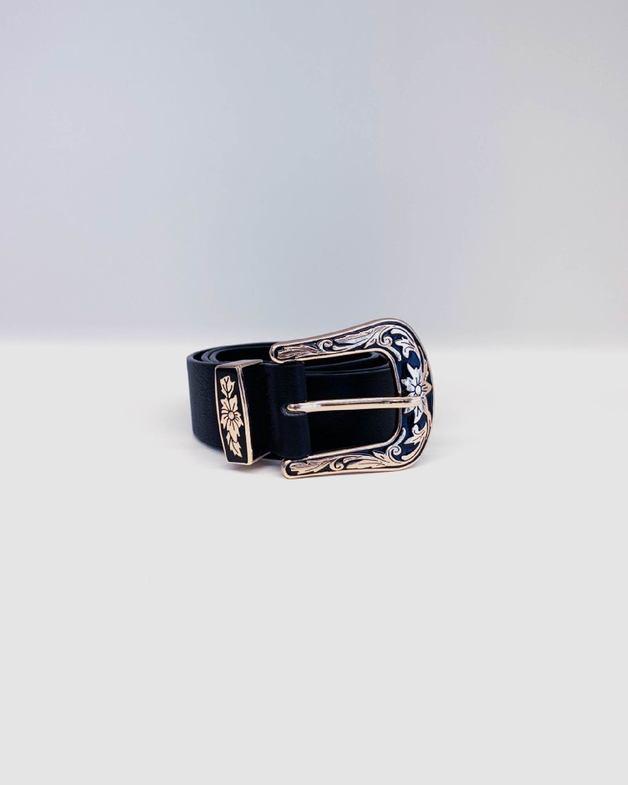 Sass: Penny Western Belt - Black (Size S/M)