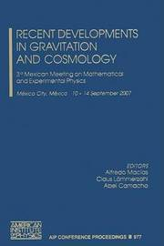 Recent Developments in Gravitation and Cosmology image