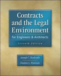 Contracts and the Legal Environment for Engineers and Architects by Joseph T. Bockrath image