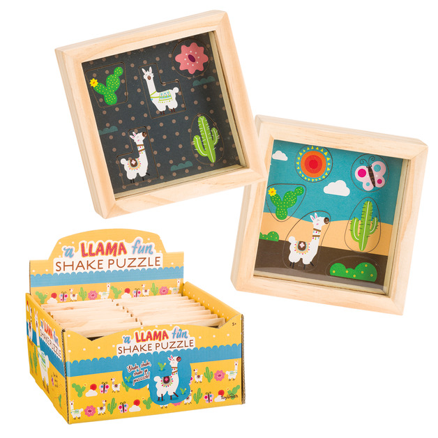 Toysmith - Wooden Llama Shake Puzzle