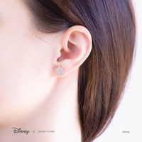 Short Story: Disney Earring Belle Mrs Potts and Chip - Silver image