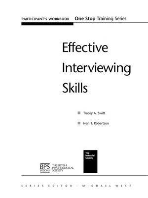Effective Interviewing Skills by Tracey A. Swift image
