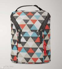Skip Hop: Grab&Go Double Bottle Bag - Triangles