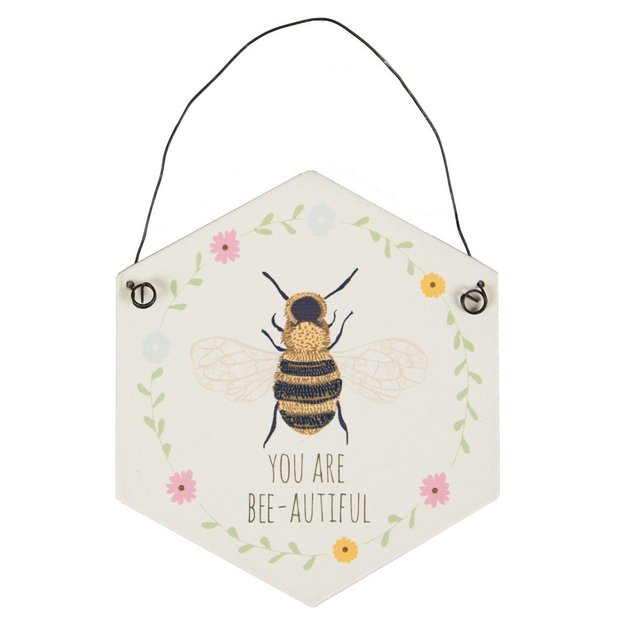 You Are Bee-autiful Hexagon Plaque