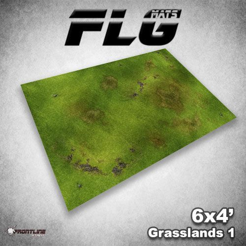 FLG Grasslands 1 Neoprene Gaming Mat (6x4)