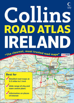Comprehensive Road Atlas Ireland by Collins UK image