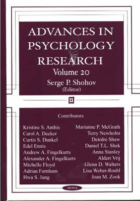 Advances in Psychology Research: Volume 20