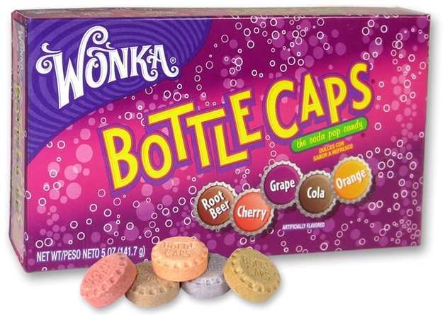 Wonka Bottle Caps Theater Box 141g
