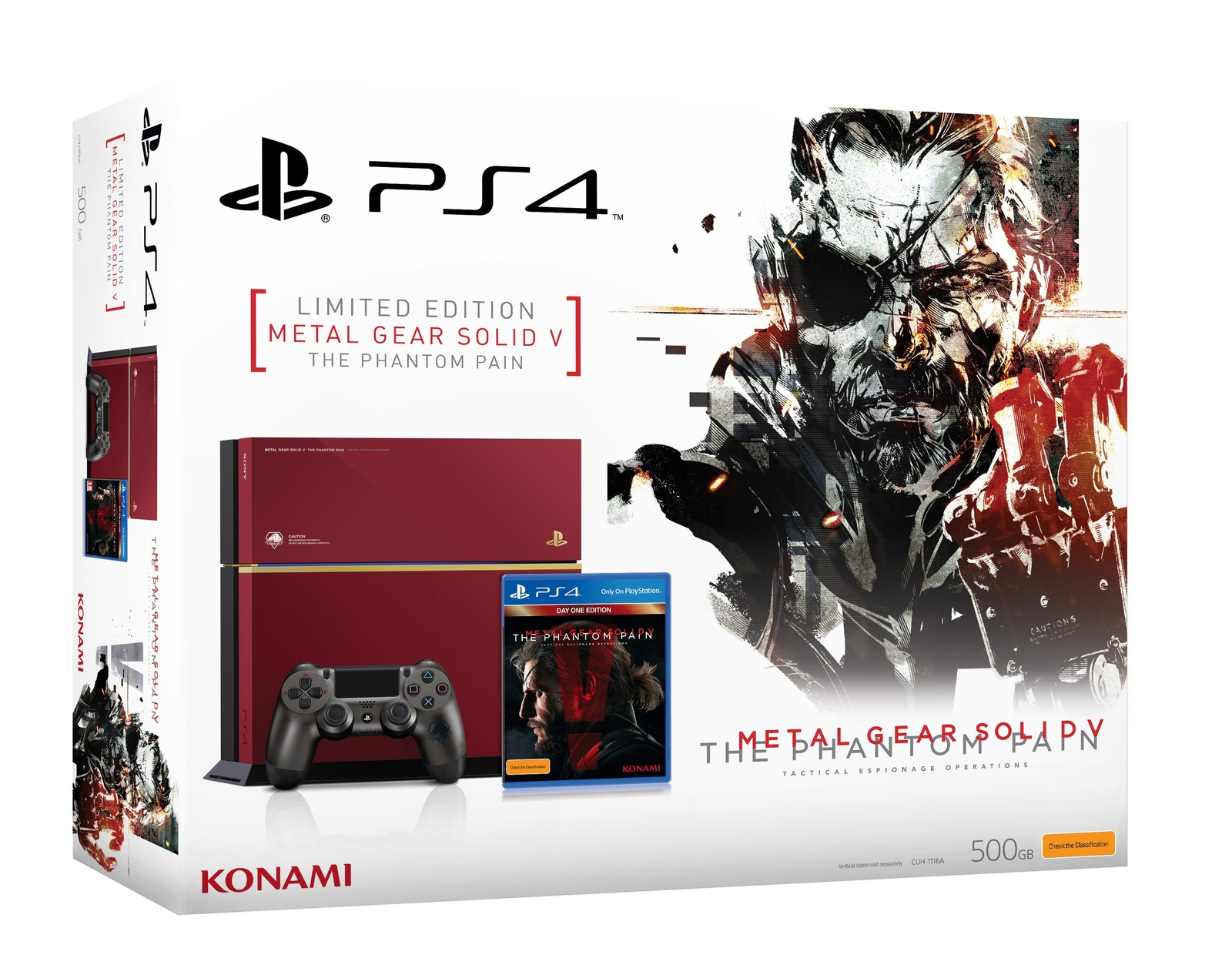 Metal Gear Solid V Ps4 Console Buy Now At Mighty Ape Nz Game The Definitive Experience Phantom Pain Bundle For Image