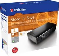 "Verbatim 3.5"" Store'n'Save Desktop Hard Drive USB 3.0 - 2TB image"