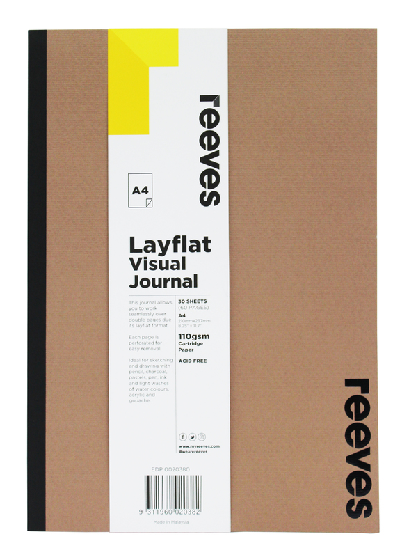 Reeves: A4 Layflat Visual Journal - Kraft Cover