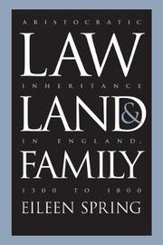 Law, Land, and Family by Eileen Spring