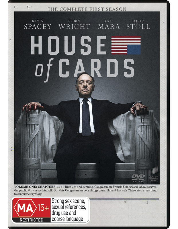 House of Cards - Season One on DVD