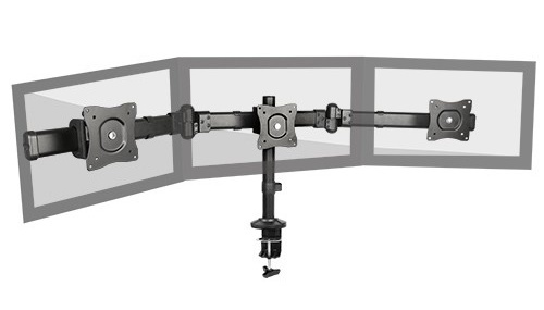 "Brateck: Multi-screen Desk Mount (Fits 13""-27"")"