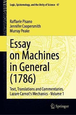 Essay on Machines in General (1786) by Raffaele Pisano