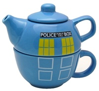 Vintage Police Telephone Box Teapot and Cup