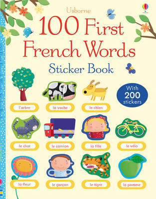 100 First Words in French Sticker Book image