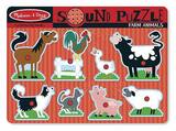 Melissa & Doug: Farm Animals Wooden Sound Puzzle