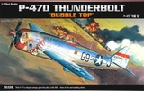 "Academy P-47D T/BOLT ""Bubble-Top"" 1/72 Model Kit"