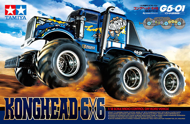 Tamiya 1:18 RC 1/18 Konghead 6x6 - G6-01