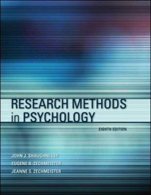 Research Methods in Psychology by John J. Shaughnessy image