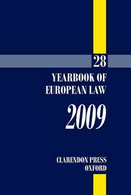 Yearbook of European Law: 2009: v. 28 image