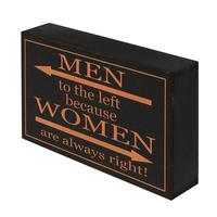 Shelf Plaque - Men To The Left
