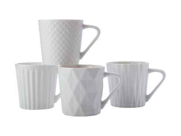 Maxwell & Williams: Latitude Mug Set of 4 - Matte White