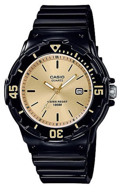 Casio Youth Series Watch Black/Gold - LRW-200H-9EVDF