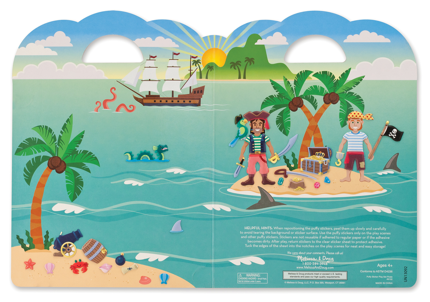 Melissa & Doug: Puffy Stickers Play Set Pirate image