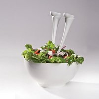 Jumpin' Jacks Salad Spoons (White)