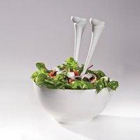 Jumpin' Jacks Salad Spoons (White) image
