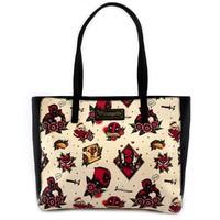 Loungefly: Marvel Deadpool - Tattoo Tote Bag