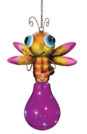 Regal Art & Gift: Solar Firefly Lantern - Pink