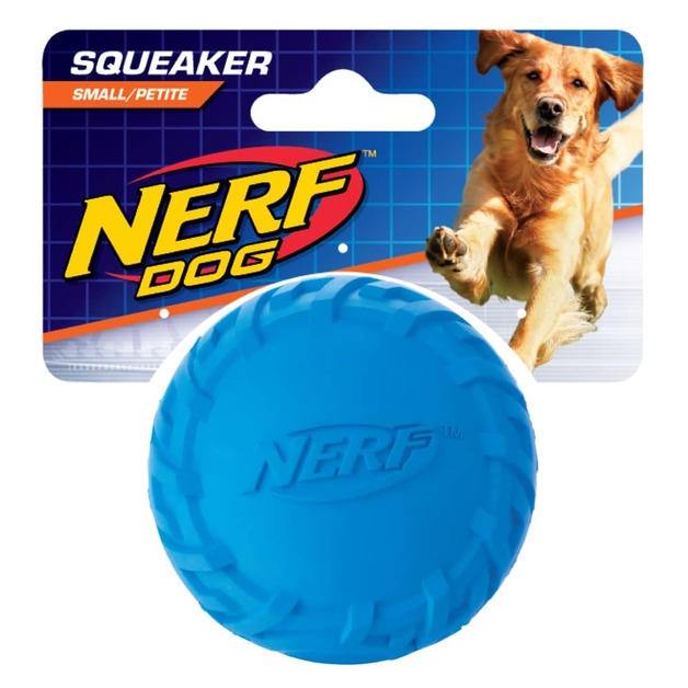 Nerf Dog Squeak Blue Ball