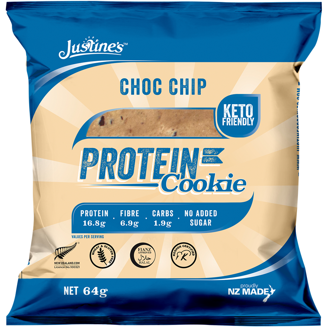 Justine's Protein Cookies - Chocolate Chip (Box of 12) image