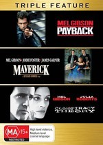 Payback / Maverick / Conspiracy Theory - Triple Feature (3 Disc Set) on DVD