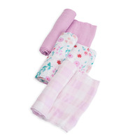 Little Unicorn: Cotton Muslin Swaddle - Morning Glory (3 Pack)