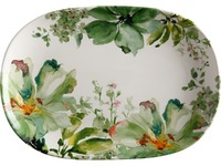 Casa Domani Botanical Oval Platter 40x28cm Gift Boxed